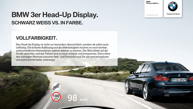 BMW 3 Series Head-Up Display iPad Application