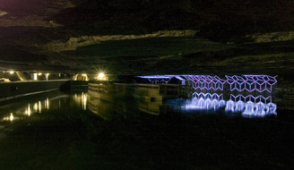 Mirror Lake with 40 Meters of LEDs